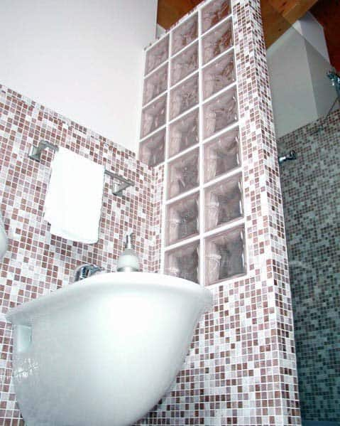 Bathroom Divider Wall Ideas For Glass Block