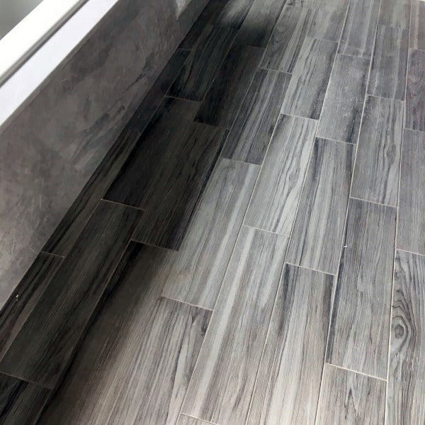 Bathroom Floor Design Ideas Woodgrain Look