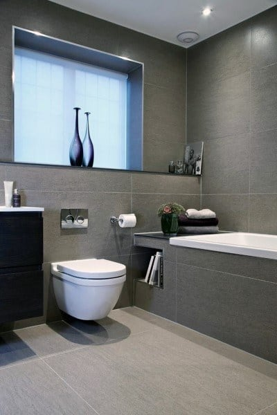 contemporary small bathroom tile ideas