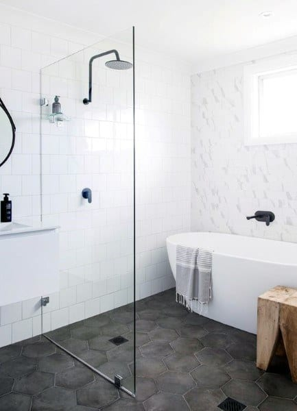 Bathroom Flooring Dark Grey