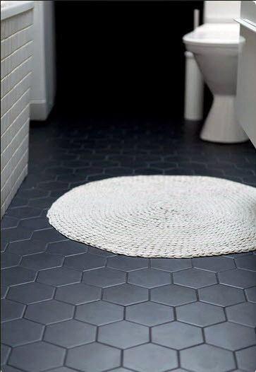 Bathroom Floors Tiles Ideas Black Hexagon Tile