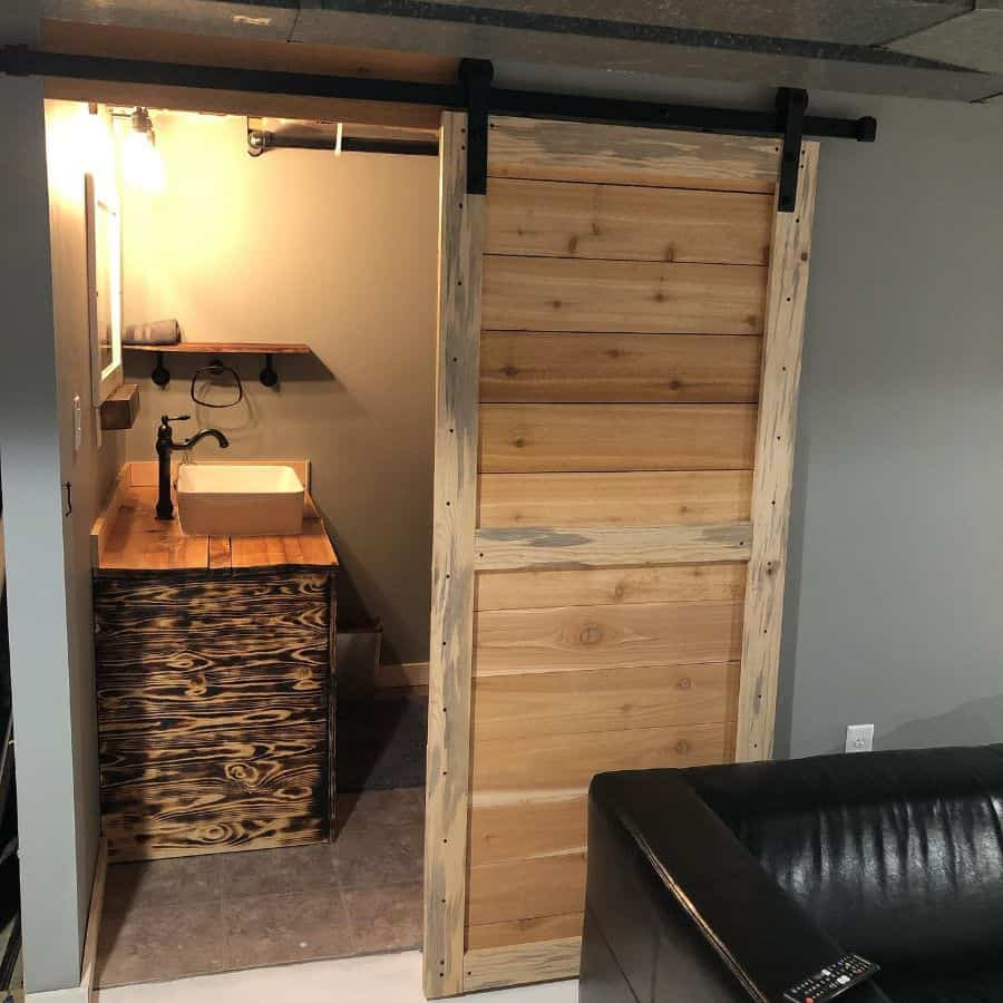 Bathroom For Basement Mancave K.b.woodgraindesigns