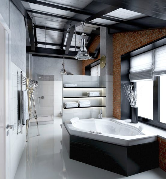 Top 60 best modern bathroom design ideas for men next luxury for 60 s bathroom ideas