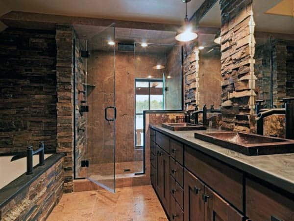 Top 70 Best Rustic Bathroom Ideas Vintage Designs,What Color Shirt Matches With Olive Green Pants