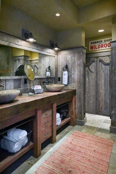 Bathroom Ideas With Rustic Design
