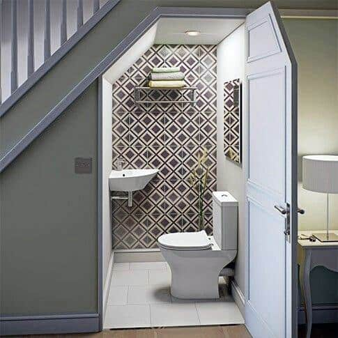 Bathroom Interior Designs Under Stairs