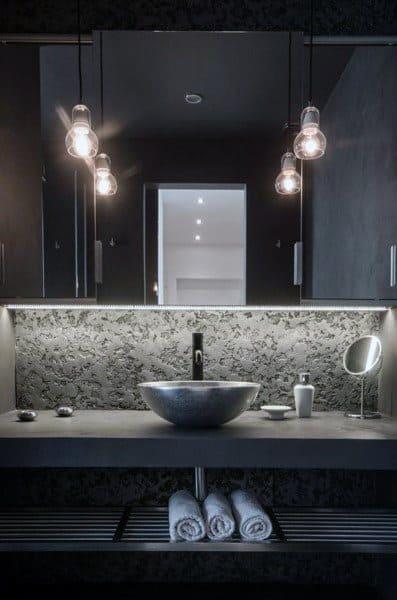 Bathroom Mirror Trim Ideas With Pendant Lighting