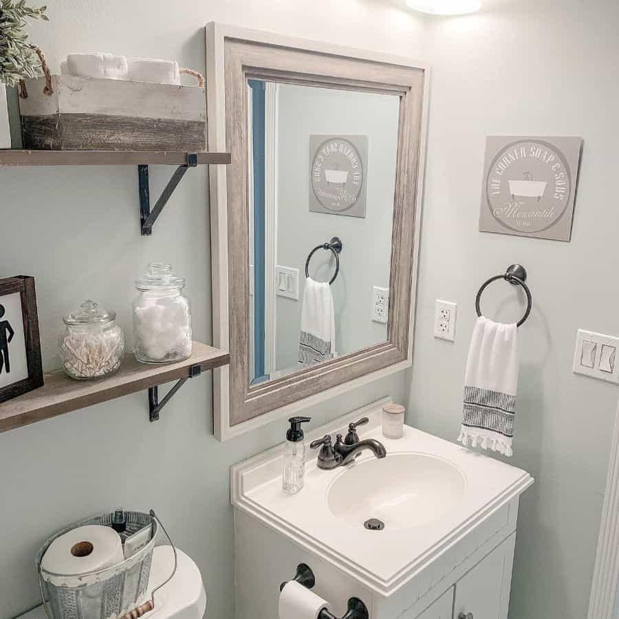 Bathroom Modern Farmhouse Decor Letsstayhome Blog