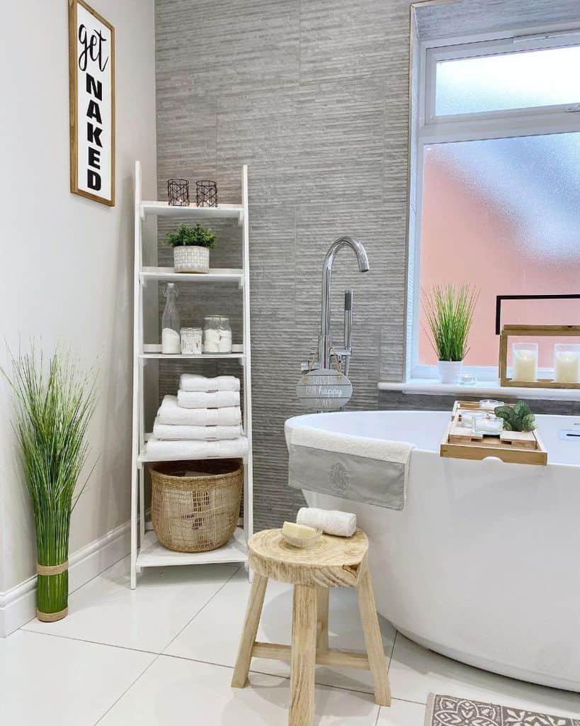 bathroom rack organization ideas