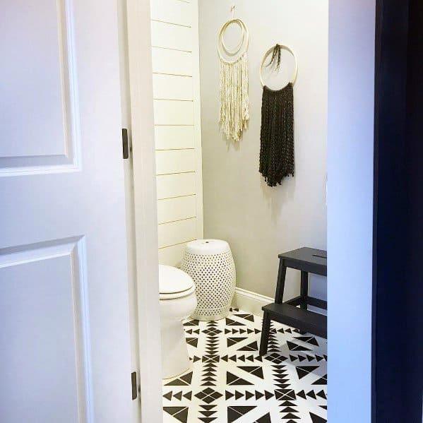 Bathroom Pattern Cool Painted Floor