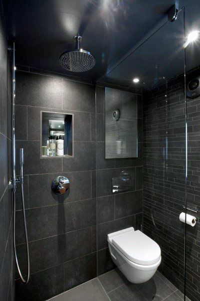 dark small bathroom tile ideas