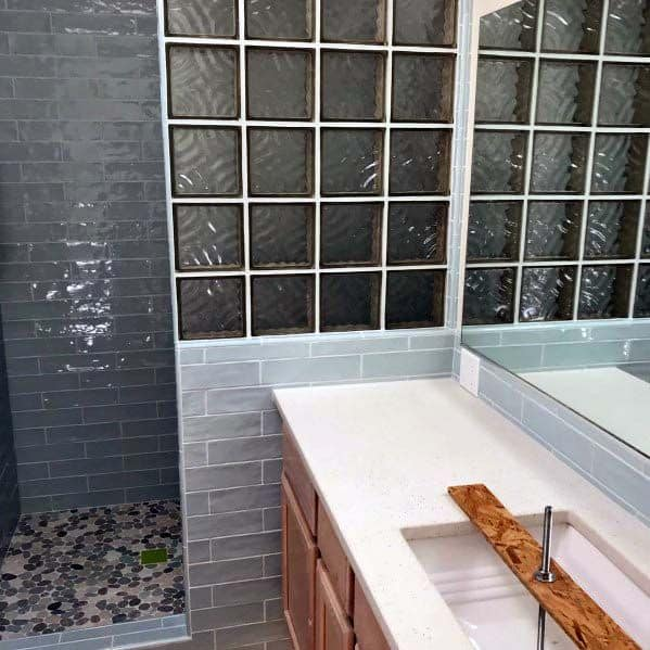 Bathroom Shower Wall Glass Block Design Ideas