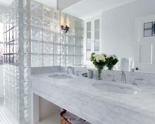 Bathroom Shower Walls Glass Block Interior Ideas