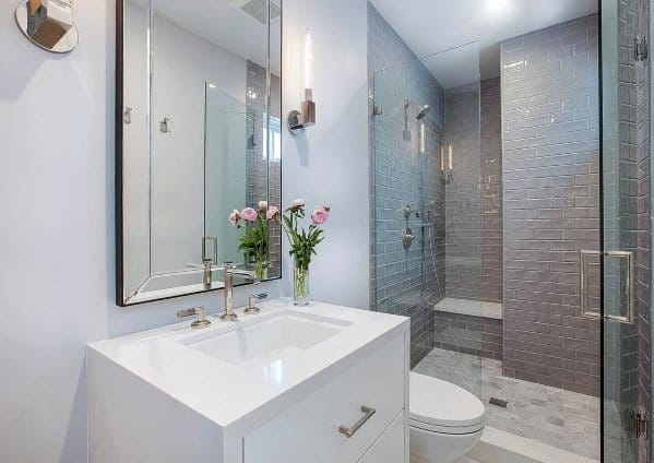 Bathroom Showers Grey Tile Ideas