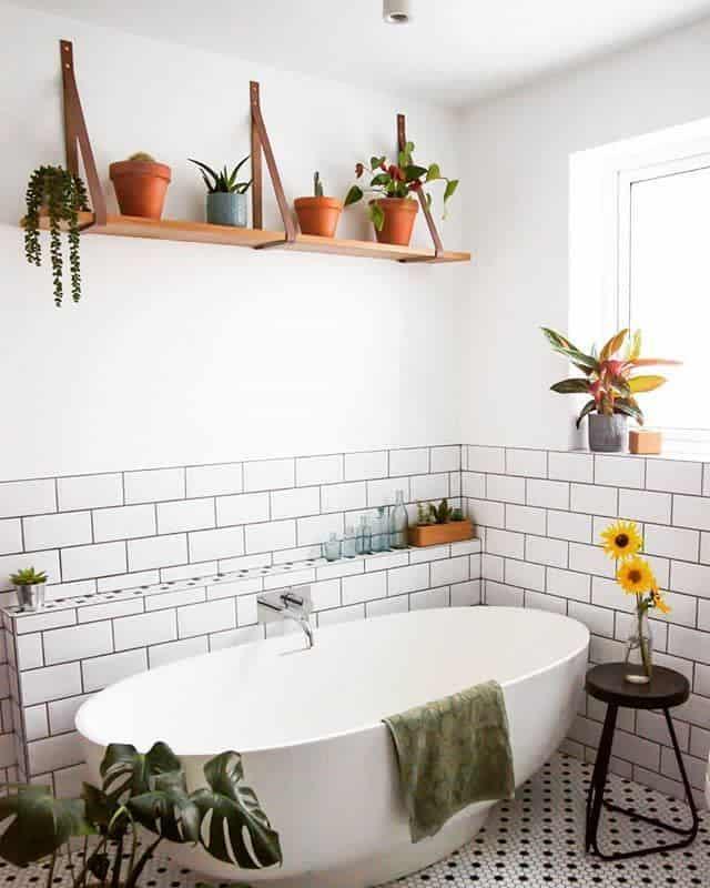 bathroom wall shelf ideas lime_lace