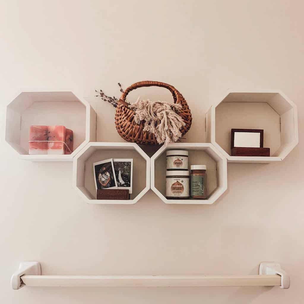 bathroom wall shelf ideas wovenandwicker