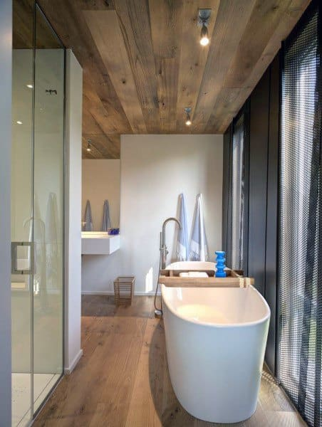 Bathroom Wood Ceiling Ideas
