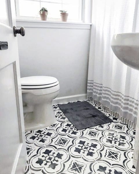 Bathrooms Home Interior Painted Floor