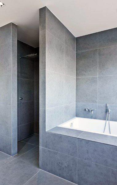 Bathtub Tile Design Ideas Grey