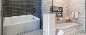 Top 60 Best Bathtub Tile Ideas – Wall Surround Designs