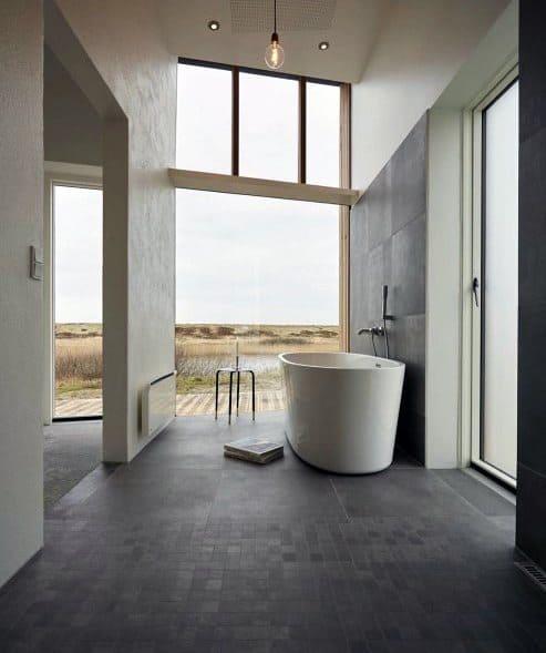 Bathtub Tiles Grey Ultra Modern Homes