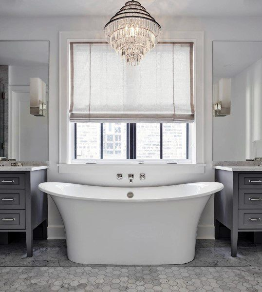 Bathtub With Chandelier Master Bathroom Ideas