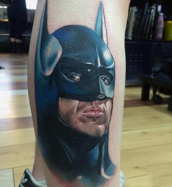 Batman Cartoon Tattoos On Guys
