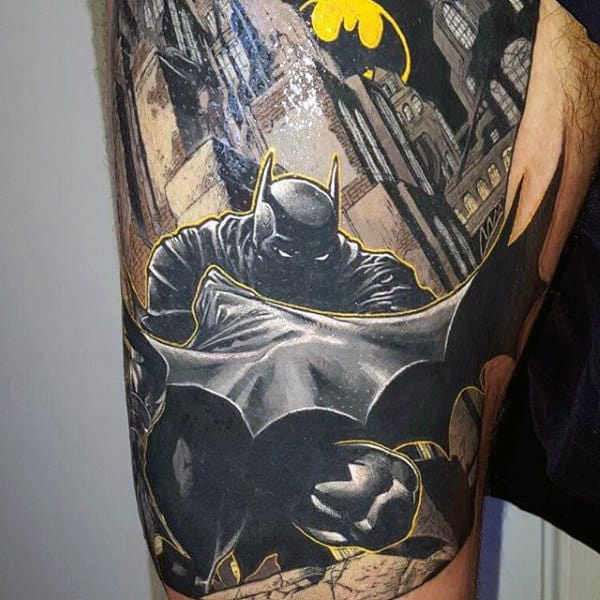 Batman Sign Tattoo Men