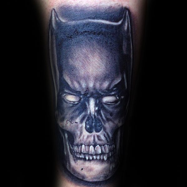 Batman Skull Forearm Morph Guys Tattoos