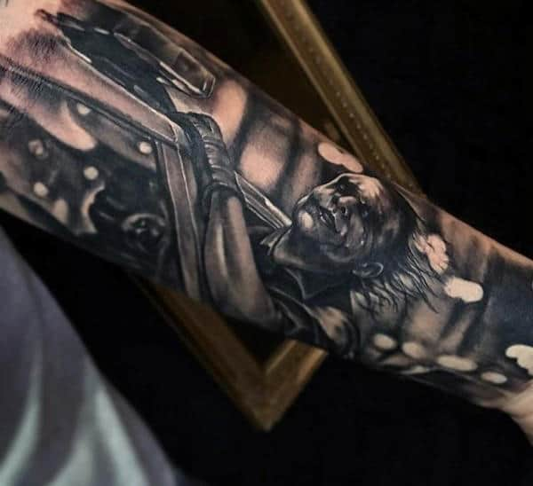 Batman Sleeve Mens Tattoos