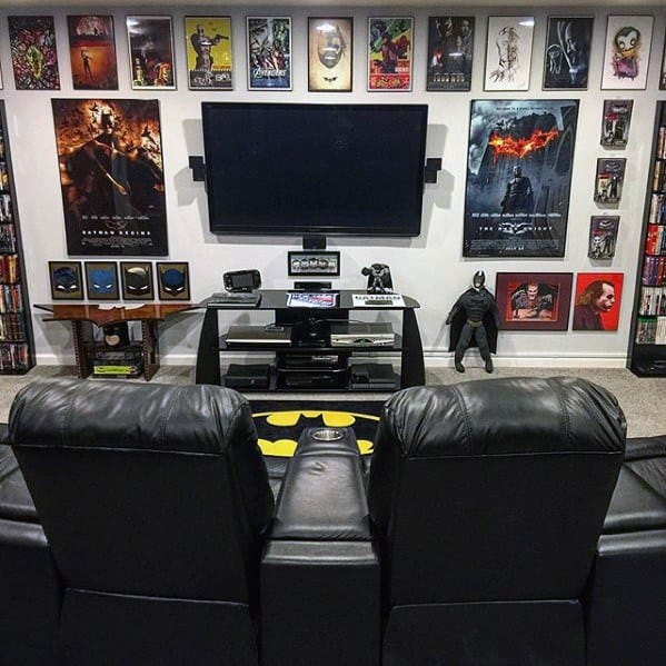 Batman Themed Gaming Man Cave For Men