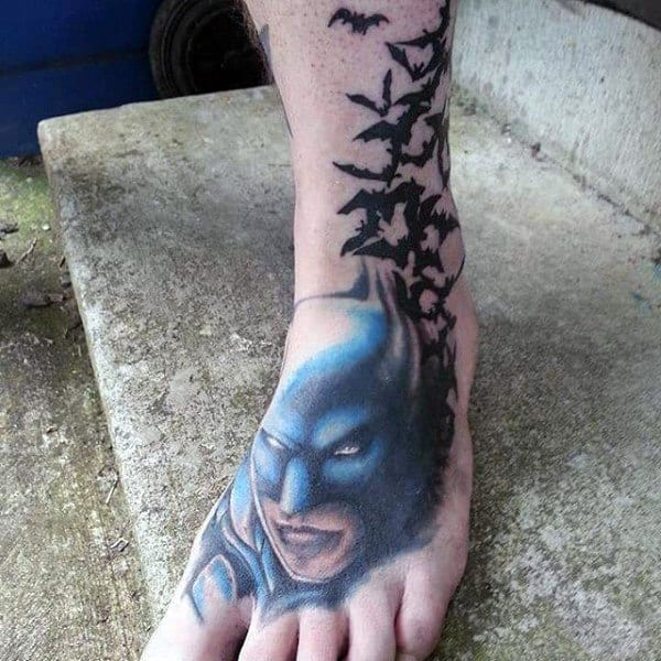 100 batman tattoos for men superhero ink designs for Mens foot tattoos