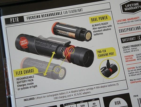 Battery Detail Box Coast Px1r Flashlight Review