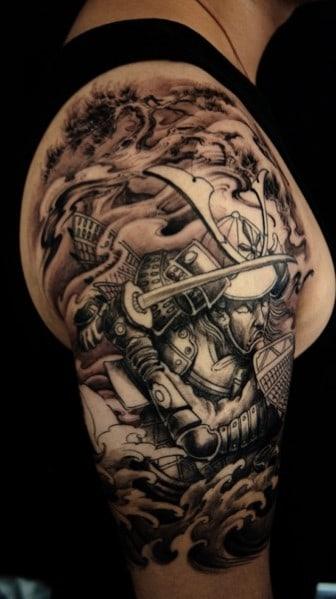 Battle Shoulder Tattoo