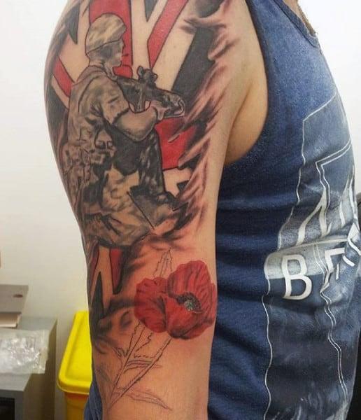 Battle Tattoos Military For Men