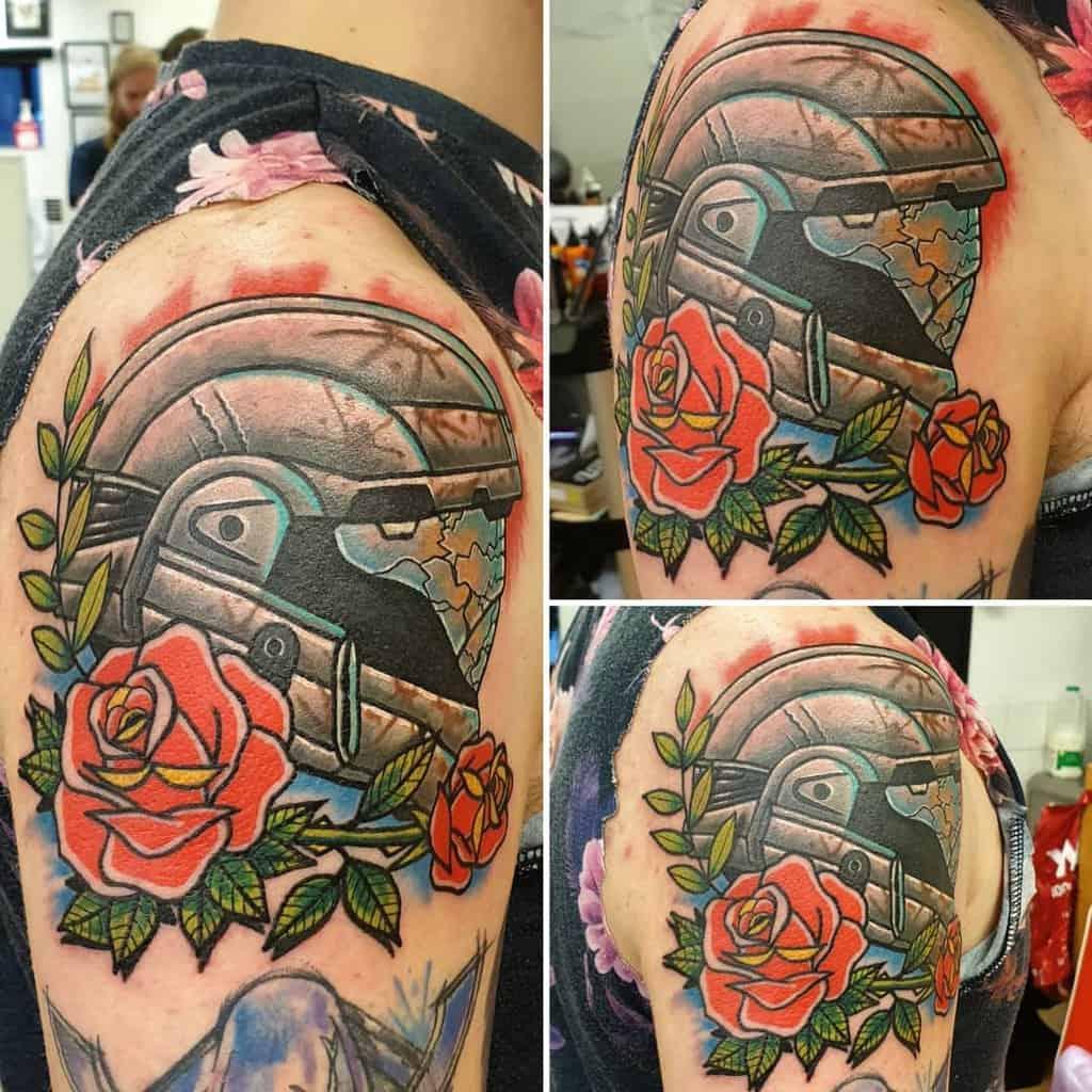 battle-worn-geek-helmet-halo-tattoo-body_mods_by_dave