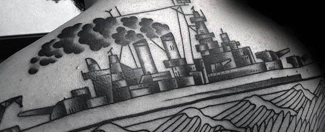 Battleship Tattoo Designs For Men