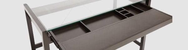 Baxton Studio Idabel Dark Brown Wood Desk