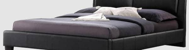 Baxton Studio Sabrina Modern Bed with Headboard