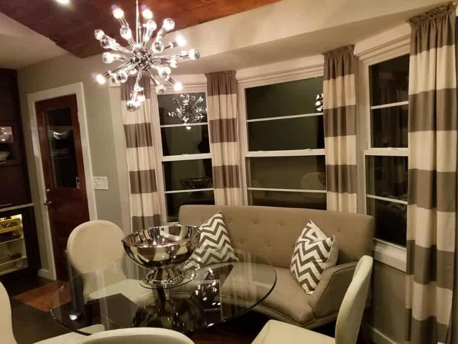 Bay Window Living Room Curtains