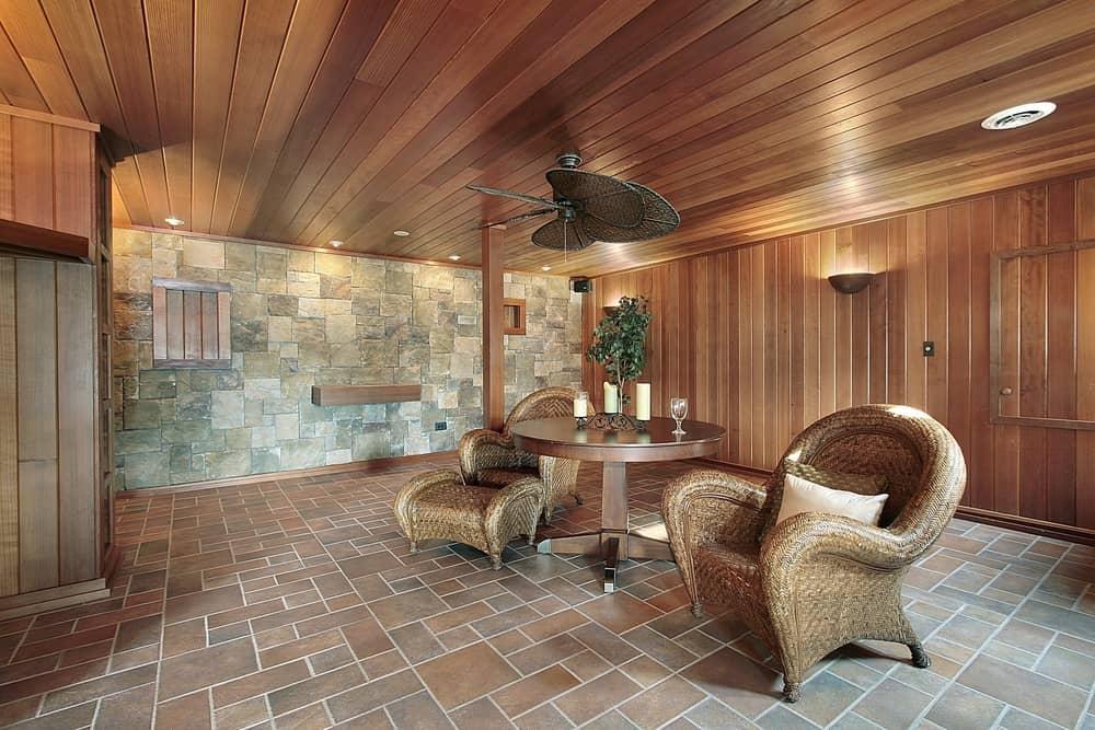 beadboard low basement ceiling ideas