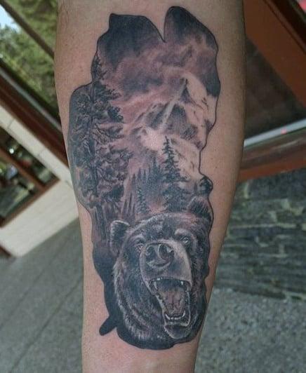 Bear Men's Tattoos Ideas