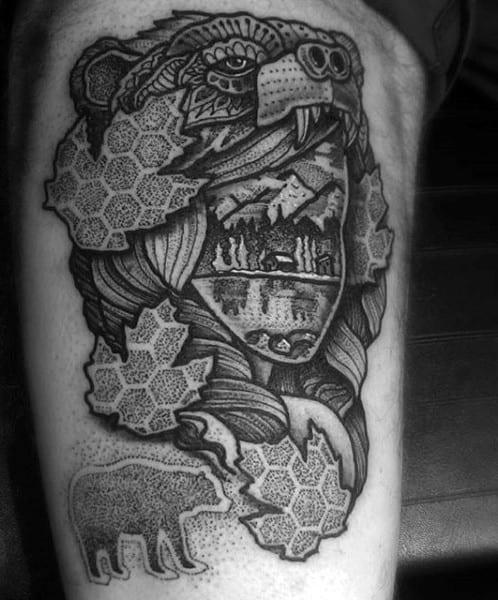 Bear Paw Tattoos For Men