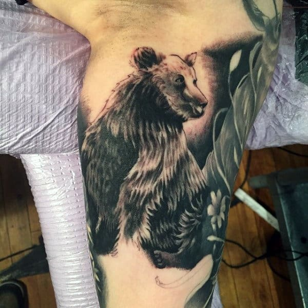 3b36f2896 60 Bear Tattoo Designs For Men - Masculine Mauling Machine