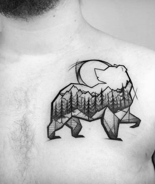 50 Small Geometric Tattoos For Men Manly Shape Ink Ideas