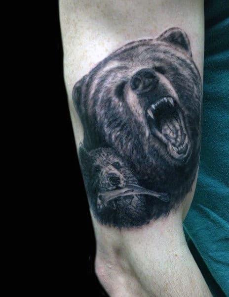 Bears Den Tattoo For Men