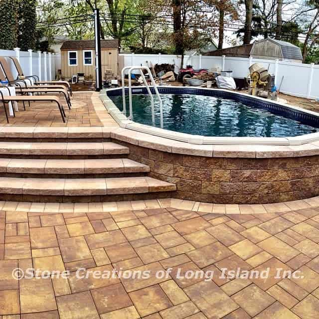 Beautiful Above Ground Pool Multilevel Deck
