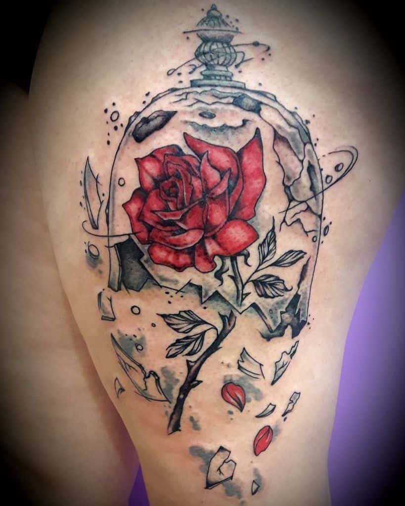 Beautiful Beauty And The Beast Tattoo