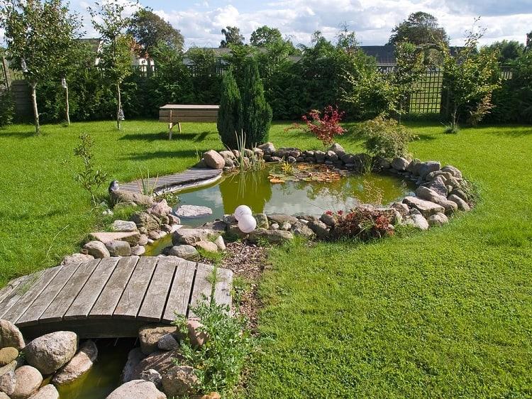 Beautiful Classical Garden Backyard Pond Landscaping
