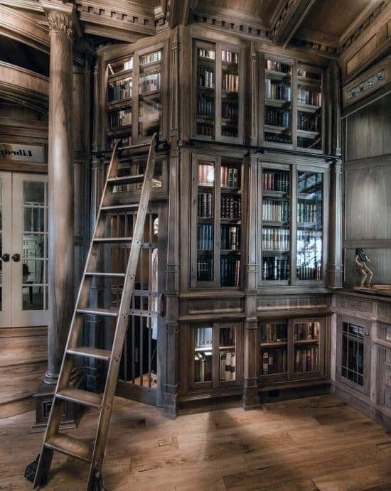 beautiful custom hardwood cabinet home library